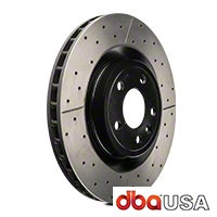 DBA X-Gold Series Cross Drilled/Slotted Rotors - Front Pair (11-14 GT) - DBA 46195