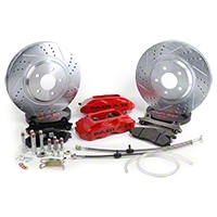 Baer Track-4 Front Brake Kit - Red (94-04 All) - Baer Brake Systems 4261276R