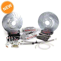Baer Track-4 Front Brake Kit - Silver (94-04 All) - Baer Brake Systems 4261276S