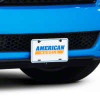 American Muscle License Plate - White - AM Exterior AM-Plate-White