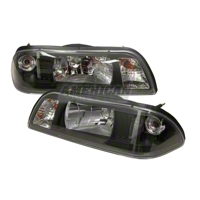 Black Fox Body One Piece Headlights (87-93)