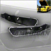 Clear Turn Signal Lights with Black Housing (2005+)