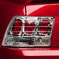 Chrome Euro Tail Lights (99-04 GT, V6, Mach 1) - AM Lights 49025