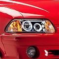 Chrome One Piece Projector Headlights - LED Halo (87-93 All)