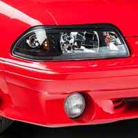 Black One-Piece Headlights (87-93 All) - AM Lights HD-YD-FM87-1PC-LED-B