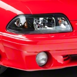 Black One-Piece Headlights (87-93 All) - AM Lights HD-YD-FM87-1PC-LED-BK