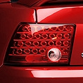 Red Solid LED Tail Lights (99-04 GT, V6, Mach 1) - AM Lights 03-FM9904TLED