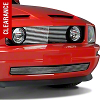 Black GT Style Grille w/ Angel Eye Fog Lights (05-09 V6) - AM Exterior GRL-05-FOG-BK