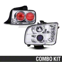 Chrome Projector Headlight and Tail Light Combo (05-09 GT, V6)