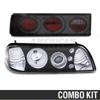 Black Projector LED Headlight and Tail Light Combo (87-93 All)
