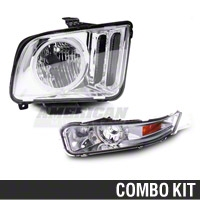 Chrome Headlight and Turn Signal Combo (05-09 GT, V6) - AM Lights 49060||HU688-01-8-U-00