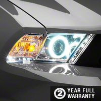 Raxiom Chrome Projector Headlights - CCFL Halo (10-12 GT, V6) - Raxiom 49130
