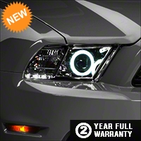 Raxiom Chrome Projector Headlights - CCFL Halo (13-14 GT, V6 with Factory HID) - Raxiom 49175
