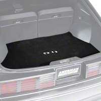 Replacement Hatch Carpet - Black w/ 5.0 Logo (87-93 All) - AM Floor Mats 3294-801-219