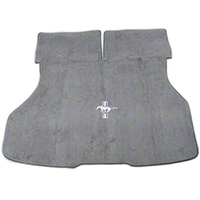 Replacement Hatch Carpet - Titanium Gray w/ Pony Logo (87-93 All) - AM Floor Mats 3296-857-110