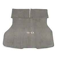 Replacement Hatch Carpet - Titanium Gray w/ 5.0 Logo (90-92 All) - AM Floor Mats 3296-857-219