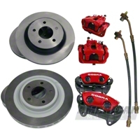 Ford Racing Red 10th Anniversary Cobra Brake Upgrade Kit (Front and Rear)