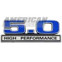 Blue 5.0 High Performance Emblem