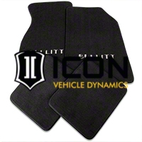 Dark Charcoal Floor Mats - Bullitt Logo (99-04 All) - AM Floor Mats FM93-7701-242