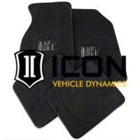 Dark Charcoal Floor Mats - Mach 1 Logo (99-04 All) - AM Floor Mats FM93-7701-222