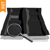 Replacement Floor Carpet - Coupe/Hatchback - Black (82-93 All) - AM Floor Mats 3296-801