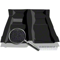 Replacement Floor Carpet - Convertible - Black (82-93 All) - AM Floor Mats 3297-801