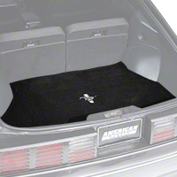 Replacement Hatch Carpet - Black w/ Pony Logo (87-93 All) - AM Floor Mats 3294-801-110