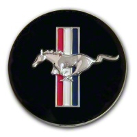 Ford Racing Running Pony Tri-Bar Center Cap - Large - Ford Racing M-1096-K