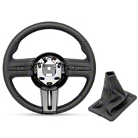 Ford Racing GT500 Steering Wheel and Shift Boot - Black Stitching (05-09 All) - Ford Racing M-3601-C