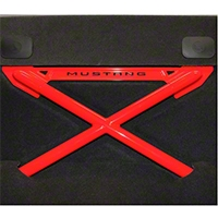 Ford Racing X-Brace Rear Seat Delete - Coupe - Red (05-13 All) - Ford Racing M-6346612-A