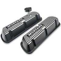 Ford Racing Black Valve Covers w/ Mustang Logo (86-93 5.0L) - Ford Racing M-6000-E302