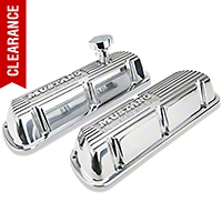 Ford Racing Polished Valve Covers w/ Mustang Logo (86-93 5.0L) - Ford Racing M-6000-F302