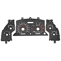 Black Face Reverse Glow Gauge Insert (94-98 V6) - AM Interior GAU-94-V6-BKF