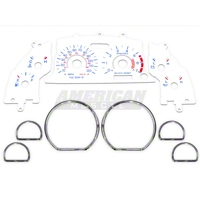 White Face Gauge and Chrome Ring Kit (99-04 V6)