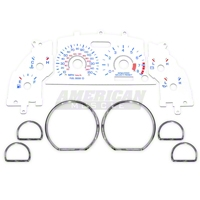 White Face Gauge and Chrome Ring Kit (99-04 GT)
