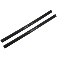 Black Door Sill Plates - Mustang Lettering (79-93 All) - AM Restoration F3ZZ-6113208-BM