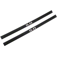 Black Door Sill Plates - 5.0 Emblem (79-93 All) - AM Restoration F3ZZ-6113208-B5
