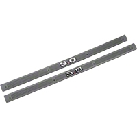 Smoke Gray Door Sill Plates - 5.0 Emblem (87-89 All) - AM Restoration F3ZZ-6113208-S5