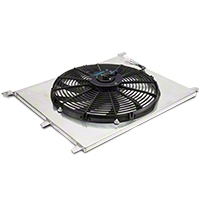 SR Performance 16 in. Performance Slim Electric Radiator Fan w/ Shroud (79-14 All) - SR Performance 525039