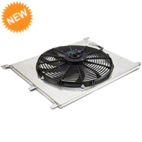 Mishimoto 16 in. Performance Slim Electric Radiator Fan w/ Shroud (79-14 All) - Mishimoto MMFS-E36-92