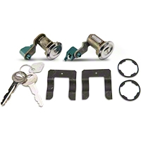 Door Lock Set - Stainless (90-93 All) - AM Restoration PY1589