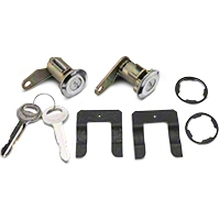 Door Lock Set - Stainless (81-89 All) - AM Restoration PY1590
