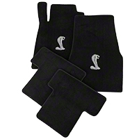 Black Floor Mats - Cobra Logo (05-10 All) - AM Floor Mats 012031
