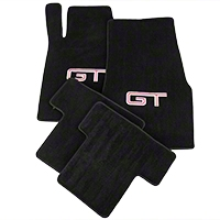 Black Floor Mats - Silver & Red GT Logo (05-10 All) - AM Floor Mats 012061