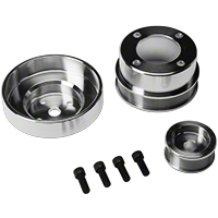 SR Performance Underdrive Pulleys - Polished (86-93 5.0L) - SR Performance 525568