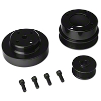 SR Performance Underdrive Pulleys - Black Aluminum (86-93 5.0L) - SR Performance 525569