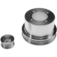 SR Performance Underdrive Pulleys - Polished (94-98 V6) - SR Performance 525572