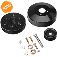 SR Performance Underdrive Pulleys - Black (96-Mid 01 GT) - SR Performance 525574