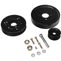 SR Performance Underdrive Pulleys - Black (Late 01-04 GT) - SR Performance 525575