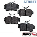 Hawk Performance Ceramic Brake Pads - Rear Pair (94-04 Bullitt, Mach 1, Cobra) - Hawk Performance (Carlisle Products) HB183Z585